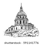 Sketch Of The Cathedral Of...