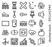 simple icons set. set of 25... | Shutterstock .eps vector #591141944