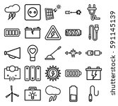 electricity icons set. set of... | Shutterstock .eps vector #591145139