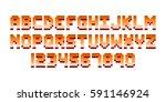 pixel retro font computer game... | Shutterstock .eps vector #591146924