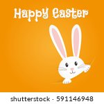 Stock vector easter rabbit easter bunny 591146948
