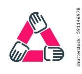 motivation concept teamwork... | Shutterstock .eps vector #591146978