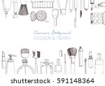 fashion cosmetics horizontal... | Shutterstock .eps vector #591148364