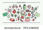 line art flat colorful vector... | Shutterstock .eps vector #591148460