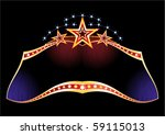 bright neon with gold borders...   Shutterstock .eps vector #59115013