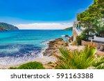 island scenery  seascape... | Shutterstock . vector #591163388