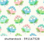 seamless pattern with flowers   Shutterstock .eps vector #591167528