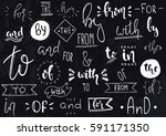 hand drawn illustration. vector ... | Shutterstock .eps vector #591171350