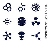 atom icons set. set of 9 atom... | Shutterstock .eps vector #591172448