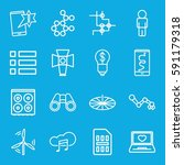technology icons set. set of 16 ... | Shutterstock .eps vector #591179318