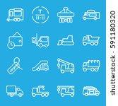 truck icons set. set of 16... | Shutterstock .eps vector #591180320
