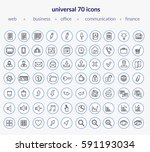 set of modern icons  web icons  ... | Shutterstock .eps vector #591193034