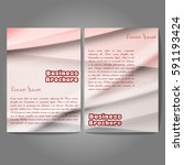 vector brochure template design ... | Shutterstock .eps vector #591193424
