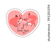 card happy valentines day....   Shutterstock .eps vector #591201554