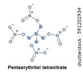 pentaerythritol tetranitrate is ... | Shutterstock .eps vector #591202934