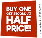 buy one get second at half... | Shutterstock .eps vector #591204398