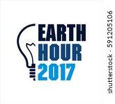 earth hour vector logo | Shutterstock .eps vector #591205106