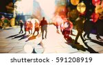 crowd of anonymous people...   Shutterstock . vector #591208919