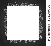 template blank card with lots...   Shutterstock .eps vector #591209708