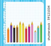 back to school background with... | Shutterstock . vector #59121034