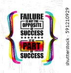 failure is not the opposite of... | Shutterstock .eps vector #591210929