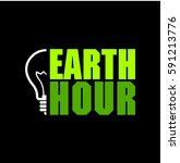 earth hour logo typo | Shutterstock .eps vector #591213776