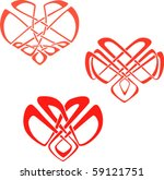 the hearts in the celtic knot... | Shutterstock .eps vector #59121751