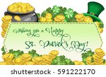 vector horizontal banner on a... | Shutterstock .eps vector #591222170
