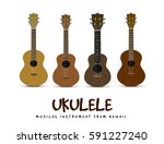 ukulele   hawaiian musical... | Shutterstock .eps vector #591227240