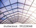 steel construction | Shutterstock . vector #591228368