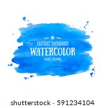 Blue Abstract Aquarelle...