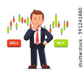 doubtful stock exchange market... | Shutterstock .eps vector #591241880