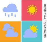 modern weather icons set. flat... | Shutterstock .eps vector #591250280