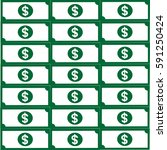 set of dollar bills  icon .... | Shutterstock .eps vector #591250424