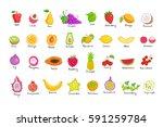 vector set of colored hand... | Shutterstock .eps vector #591259784