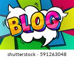 concept of bloggimg. blog word...