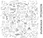 hand drawn business symbols | Shutterstock .eps vector #591264236