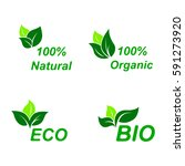 eco symbol icon set. ecology... | Shutterstock .eps vector #591273920