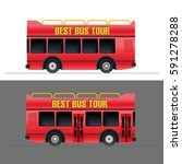 red touristic bus vector... | Shutterstock .eps vector #591278288