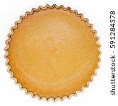 pumpkin pie  pie  top view.... | Shutterstock . vector #591284378