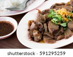 thailand style rice braised... | Shutterstock . vector #591295259