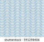 blue wavy line pattern vector... | Shutterstock .eps vector #591298406