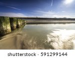 baltic sea at evening light and ...   Shutterstock . vector #591299144