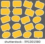 yellow speech bubbles | Shutterstock .eps vector #591301580