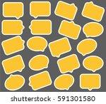 yellow speech bubbles | Shutterstock .eps vector #591301580