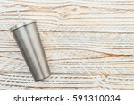 Stainless And Tumbler Cup On...
