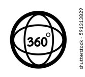 360 degree icon   Shutterstock .eps vector #591313829