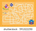labyrinth.gift. find that is in ... | Shutterstock .eps vector #591322250