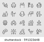 Business human and Work line icon | Shutterstock vector #591323648