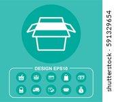 vector illustration box icon   Shutterstock .eps vector #591329654